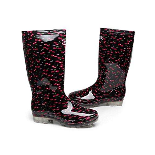 Non Mid Rain Shoes Boots Car HUAN Wash Transparent Slip Summer Water Shoes Calf Womens A PVC 8qPx5Rx