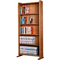 The Wood Shed 507B U Solid Oak Bookcase, Unfinished