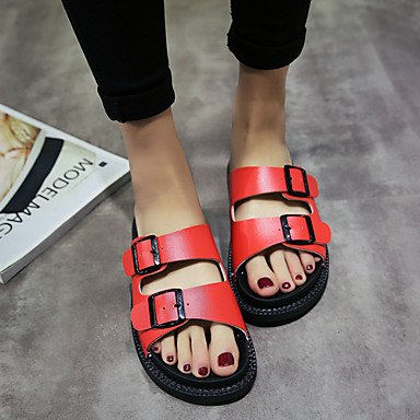 EU39 Summer Metallic 5 Sandals UK6 Gladiator Leather LvYuan Casual Outdoor Toe 5 Wedge White CN40 Clothing US8 4Ow5qZ8