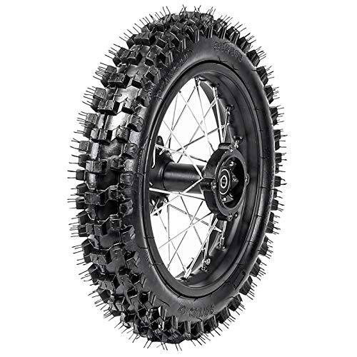 WPHMOTO 80/100-12 Rear Tire Disc Brake Wheel Rim with 15mm Bearing Set for Pit Pro Dirt Bike