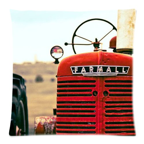 Hot New Arrival Red Tractor Pillow Cases - 18 x 18 Generic One throw pillow000090