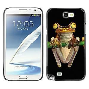 YOYO Slim PC / Aluminium Case Cover Armor Shell Portection //Cool Neon Yellow Jungle Frog //Samsung Note 2