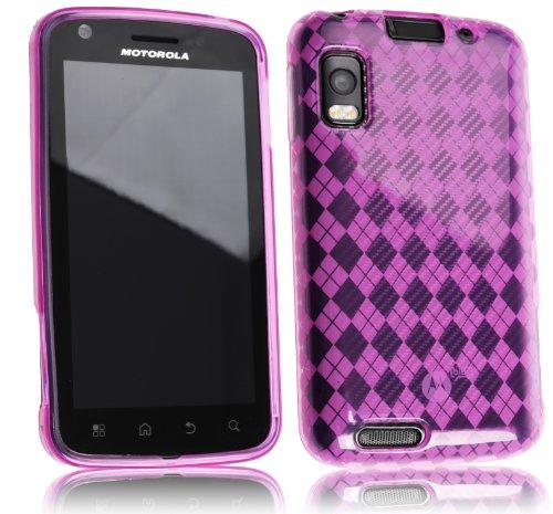 Motorola Atrix 4G Schutzhülle ...::: PINK :::... Hülle Case Silikoncase Silikonhülle Softcover Cover