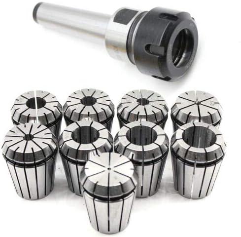 MT3 ER32 M12 Collet Chuck Set Morse Taper Holder & 9pcs Spring Collet 3-20mm for CNC Workholding Engraving & Milling Lathe Tool