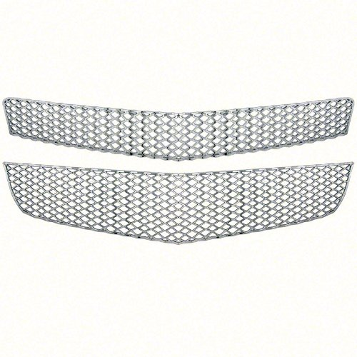 New Chrome Grille Cover Insert Overlay Fits Chevy Traverse LS & LT 2009 - 2012 gi-75