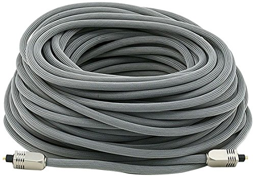 Monoprice 103449 100-Feet Premium Optical Toslink Cable with Metal Fancy Connector