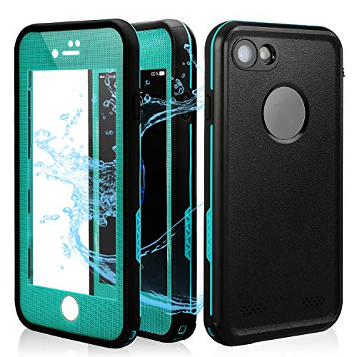 IP7 Waterproof Case | Underwater Full Body Snow-Proof Shock-Proof Dirt-Proof Hard Cover for ip7 (4.7) |Touch ID Available | Access to All Functions