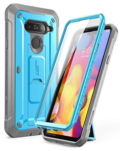 LG V40 Case, LG V40 ThinQ Case, SUPCASE Full-Body Protective Case with Built-in Screen Protector Kickstand &Holster Clip Design for LG V40/LG V40 ThinQ 2018 [Unicorn Beetle PRO Series] (Blue)