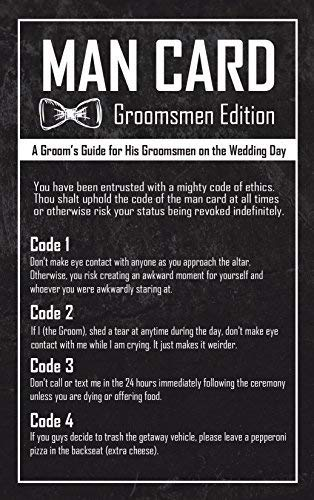 Groomsmen Gifts For Wedding  The Man Card  Groomsman Edition 6Pack