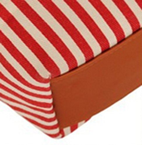 FanselaTM Girls Cute Stripe Canvas Shoulder Handbag Blue