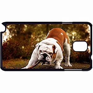 New Style Customized Back Cover Case For Samsung Galaxy Note 3 Hardshell Case, Back Cover Design Bulldog Personalized Unique Case For Samsung Note 3