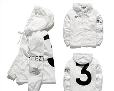 b3a5b9cc0 Dream Popular Yeezus Tour Limited Edition YZY Streetwear Windbreaker Thin  Pablo Jacket - White -  Amazon.co.uk  Clothing