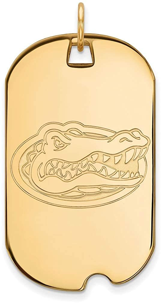 Gold-Plated Sterling Silver University of Florida Large Dog Tag by LogoArt