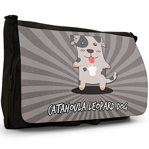 American Shoulder School Dog Large Dogs Bag Cartoon Messenger Catahoula Black Leopard Laptop Canvas RqrYRwC