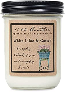 product image for 1803 Candles - 14 oz. Jar Soy Candles - (White Lilac & Cotton)