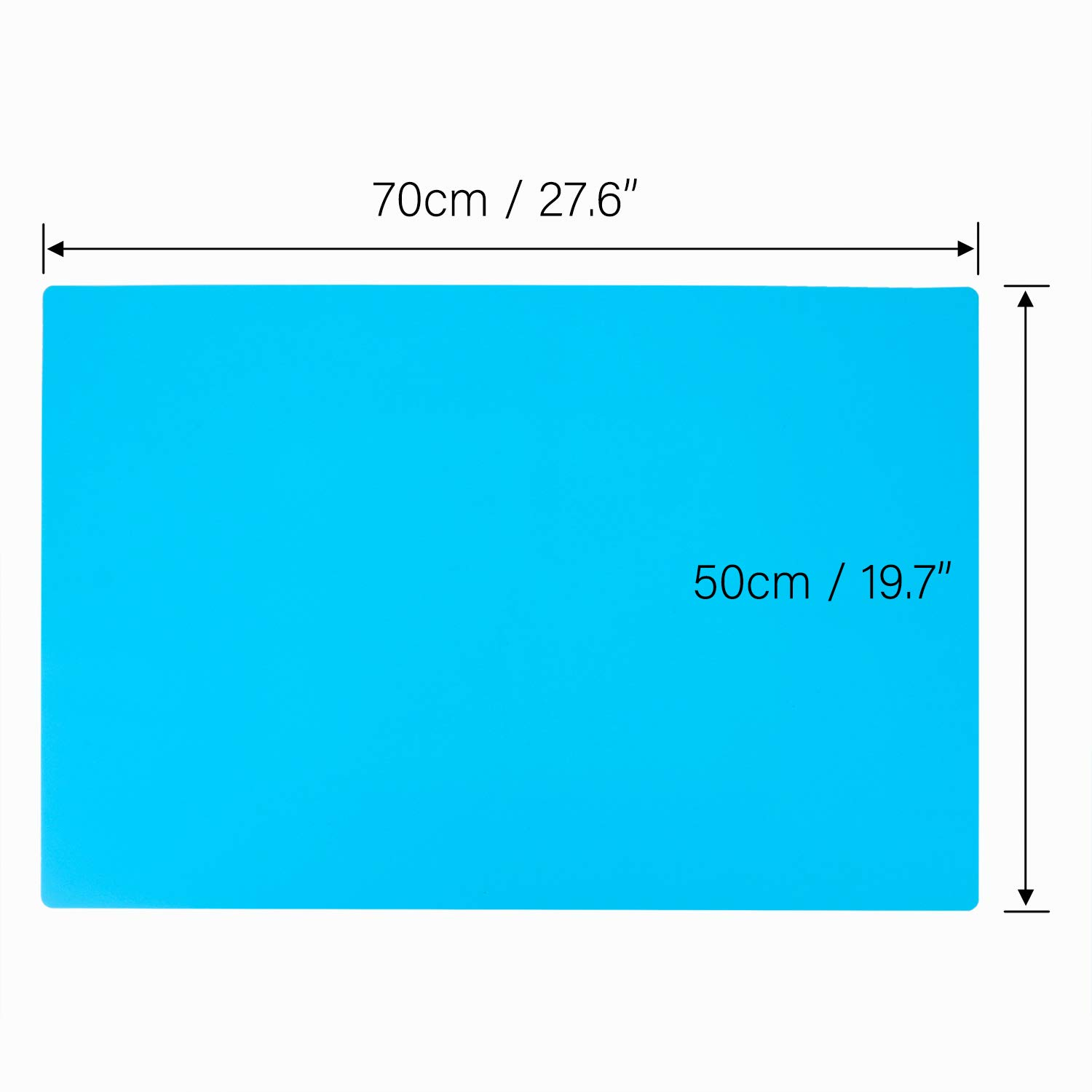 Glitter Slime Gartful Nonstick Silicone Craft Sheets for Resin Molds 27.6 x 19.7 inches Oversize Silicone Mats Multipurpose Countertop Mats for Epoxy Resin Blue Paint