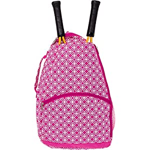 LISH Ace Tennis Racket Backpack - Women's Tennis Racquet Holder Bag
