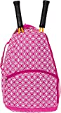 LISH Ace Tennis Racket Backpack - Women's Tennis Racquet Holder Bag (Rose)