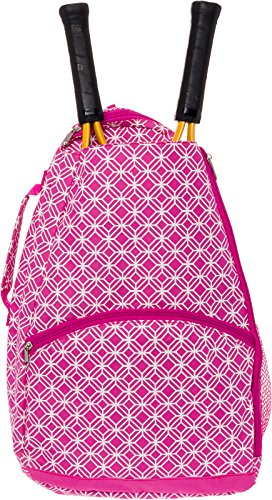 LISH Ace Tennis Racket Backpack - Women's Tennis Racquet Holder Bag (Rose) ()