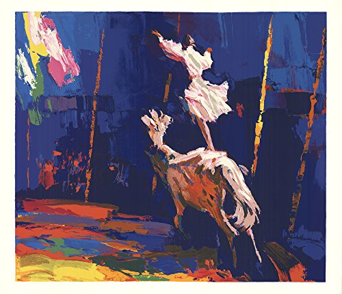 1978 Horse - Woman Standing on a Horse-1978 Serigraph