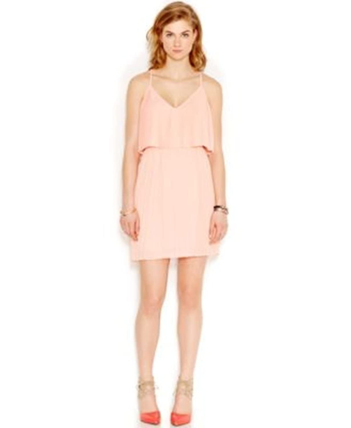 Bar III Pleated Popover Dress