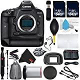 6Ave Canon EOS-1D X Mark II DSLR Camera International version (No Warranty) + Lens Pen Cleaner + MicroFiber Cloth + Battery Grip Wildlife and Sports Photography Bundle
