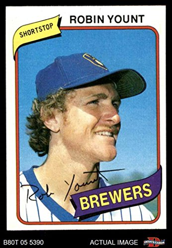 1980 Topps # 265 Robin Yount Milwaukee Brewers (Baseball Card) Dean's Cards 7 - NM Brewers