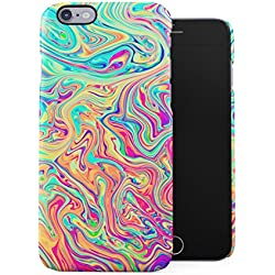 Soap Film Tie Dye Colorful Iridescent Pale Rad Indie Boho Tumblr Plastic Phone Snap On Back Case Cover Shell For iPhone 6 & iPhone 6s