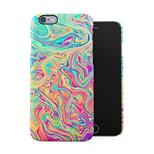 Soap Film Tie Dye Colorful Iridescent Pale Rad Indie Boho Tumblr Plastic Phone Snap On Back Case Cover Shell Compatible with iPhone 6 & iPhone 6s