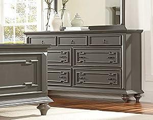 distressed bedroom furniture. Contemporary Grey Hand Rub Through Distressed Bedroom Furniture  Marceline Dresser Amazon com