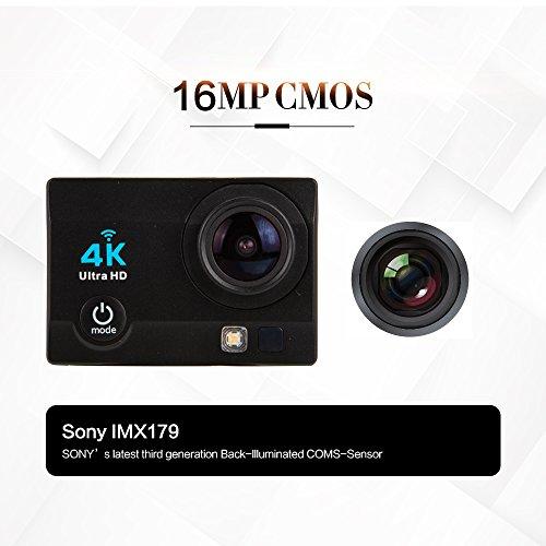 sport action camera 4k ultra hd 30fps wifi waterproof cam. Black Bedroom Furniture Sets. Home Design Ideas