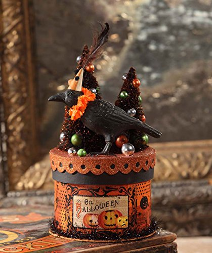 Bethany Lowe Halloween TP6184 Party Crow on Box Container 2017 -