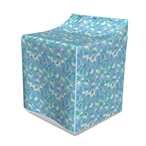 Ambesonne Geometric Washer Cover, Drop-Shaped Twists and Undulating Geometric Forms Contemporary Mosaic Pattern, Decorative Accent for Laundromats, 29