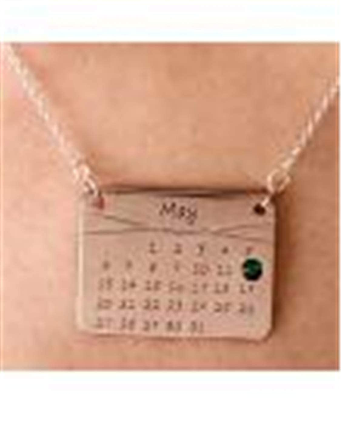 Personalized Calendar Necklace Birthstones Necklace Customize Your Birthday Sterling Silver Graduation Necklace Great Gift Idea for Moms