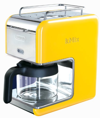 DeLonghi Kmix 5-Cup Drip Coffee Maker, Yellow