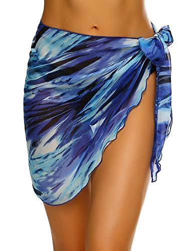 - Ekouaer Women Chiffon Pareo Beach Wrap Sarong Swimsuit Scarf Cover Up for Vacation