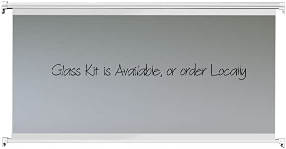 Contractor Handrail Glass Frame Kit 6 ft - White - NO Glass - Customizable Height