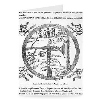 Amazon beatus of turin mappamundi engraving by greeting beatus of turin mappamundi engraving by greeting card pack of m4hsunfo