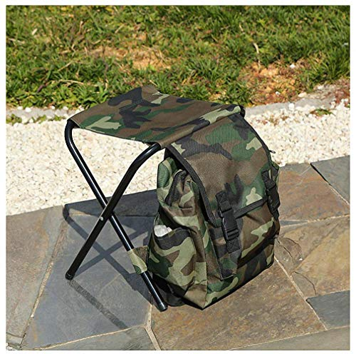 Tebapi Portable Folding Fishing Chairs Camouflage Outdoor Multi-Function Leisure Fishing Storage Bag Fishing Chair Camouflage (Papasan Camo Chair)
