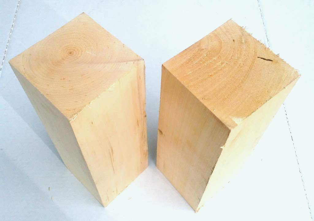 Wood-Hawk Large Basswood Carving Blocks. 4x4. You Choose Length - 16'', 14'', 12'' Soft Solid Whittling Wood. NO Knots. NO Cracks. (4x4x16 Pack of 2)