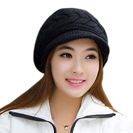 c9a05a4de71b74 Image Unavailable. Image not available for. Color: MAGA 1 Autumn Winter  Fashion Women Knitted Beret Hat ...