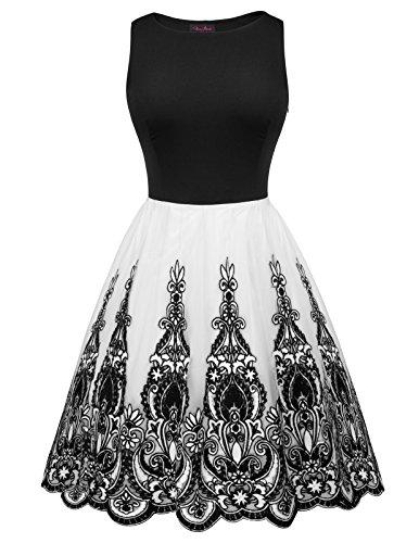 1950s black lace dress - 9
