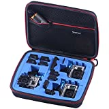 Smatree SmaCase G260sw Carrying Case for Gopro Hero 5,4, 3+, 3, 2,1 (Camera and Accessories NOT included)-Black&Blue