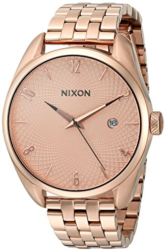 Nixon Women's 'Bullet' Quartz Stainless Steel Automatic Watch, Color:Rose Gold-Toned (Model: A418897-00)