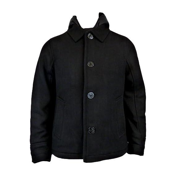 e3e32b4098c Schott NYC Mens Corto Black Coat - XL  Amazon.co.uk  Clothing