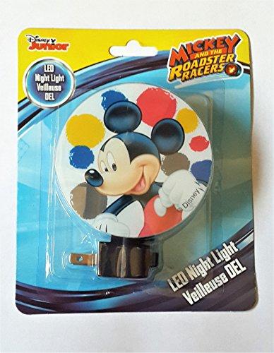 - Disney Junior LED Night Light Veilleuse DEL / Disney Mickey and the Roadster Racers LED Night Light - New 2017
