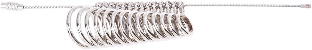 CUHAWUDBA Ringmass Ringgroesse Bestimmung Ring Gauge Gradmesser 0-13