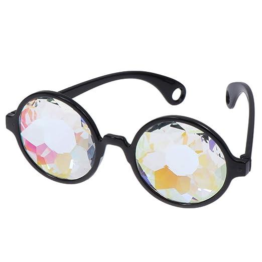 STOBOK Gafas de Caleidoscopio Arcoíris Rave Light Difracción ...
