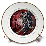 3dRose Art by Mandy Joy - Dancers - A Modern Impressionist Painting of a Couple Ballroom Dancing. - 8 inch Porcelain Plate (cp_291489_1)