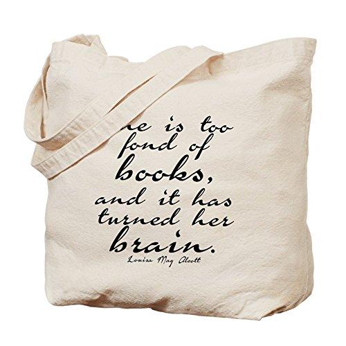 CafePress–demasiado Fond de libros–Gamuza de bolsa de lona bolsa, bolsa de la compra